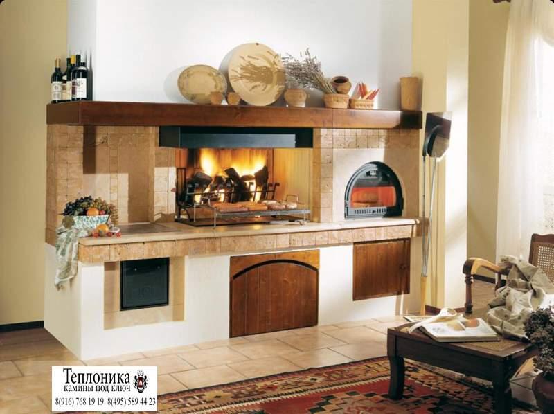 Как сделать камин на кухне